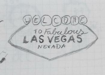Zeichnung Ortsschild Las Vegas