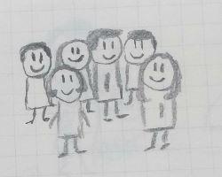 Familie, Freunde, Menschen, Studenten, Freunde, Gruppe